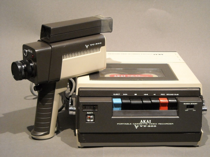 Akai VT-300 portable black and white cassette recorder and camera. Unique cassette format, no Betamax or VHS! (years before camcorders were introduced!)