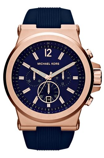 Gorgeous  Michael Kors navy  blue and rose gold watch