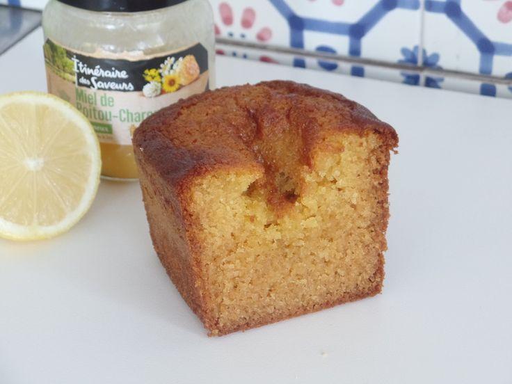 Cake façon madeleine miel-citron - Recette Olivia Pâtisse