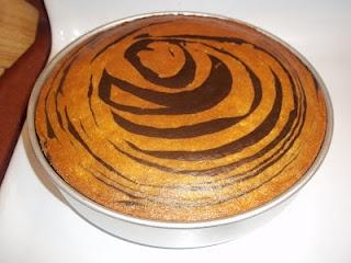 Tiger Striped cake
