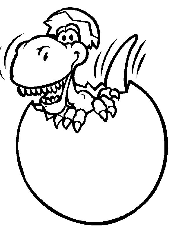 kleurplaat dino coloring pages - Cute Baby Dinosaur Coloring Pages