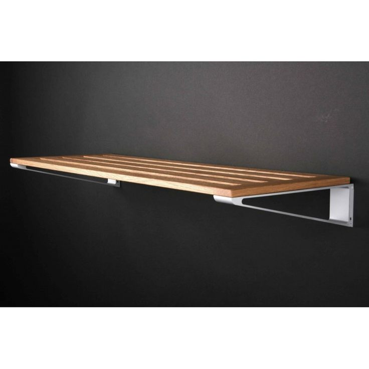 KNAX svævende hylde til sko- eller hattehylde i træ. Model til væg i 3 forskellige breder (40, 60, 80 cm). Ny 2015 model - LoCa, DK siden 1995 - Fri Fragt !