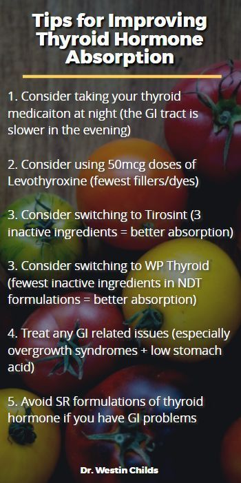 tips for improving thyroid hormone absorption