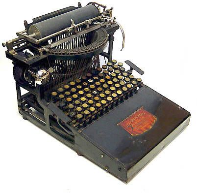 Caligraph of 1880, the second typewriter to appear on the American market.