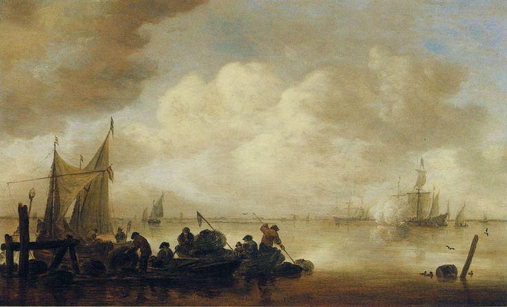 Jan van Goyen - Open water met een fregat