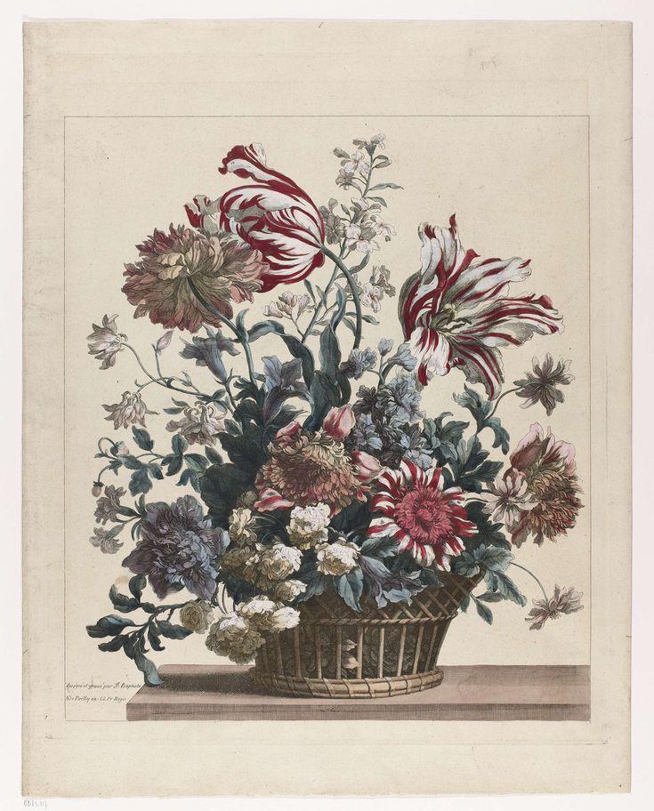 Mand met bloemen, Jean Baptiste Monnoyer, c. 1680 - c. 1690
