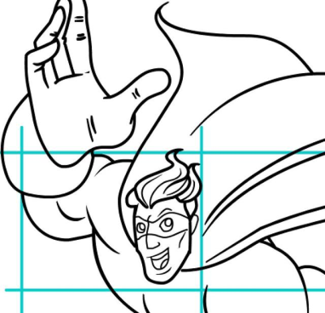 Draw Superheroes in Classic Marvell or DC Style: Draw an Old School Flying Superhero