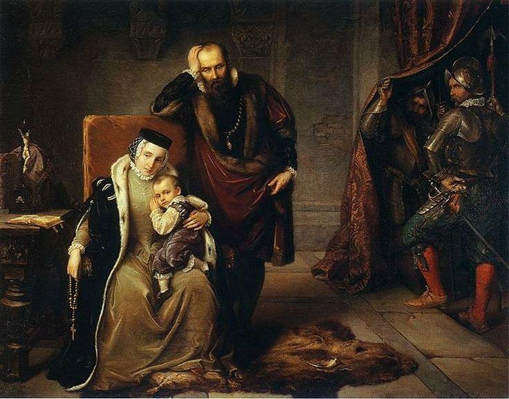 Catherine Jagiellon and her son Sigismund in Gripsholm prison.