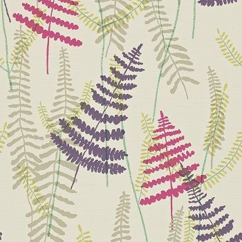 Pink, Purple, Aubergine and Mauve : Scion Melinki Athyrium 110214swatch | | The Decorating Shop: Online Wallpaper Store