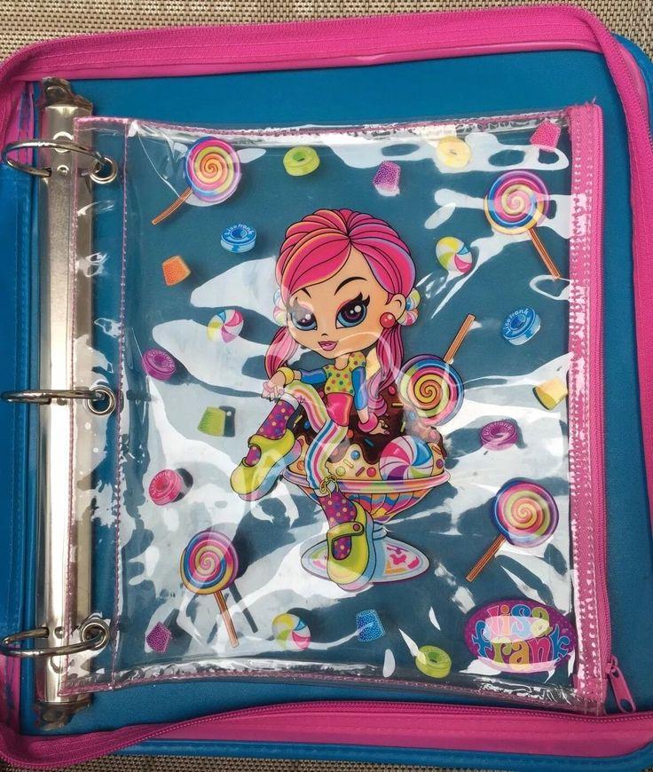 Lisa Frank Cherri Candy Girl Trapper Keeper Binder Lot Pencil Pouch Folders | eBay