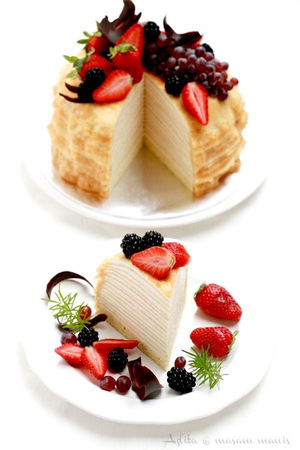 masam manis: KEK crepe cake vanilla custard