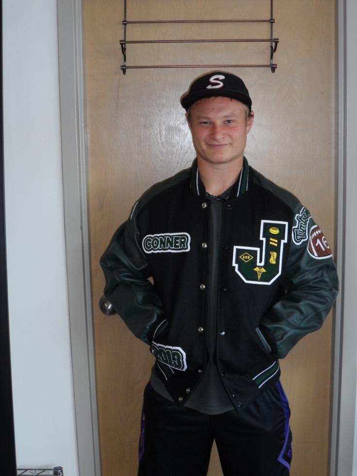Awesome black Letterman Jacket