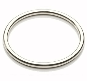 3mm Rounded Square Silver Bangle kl4q6