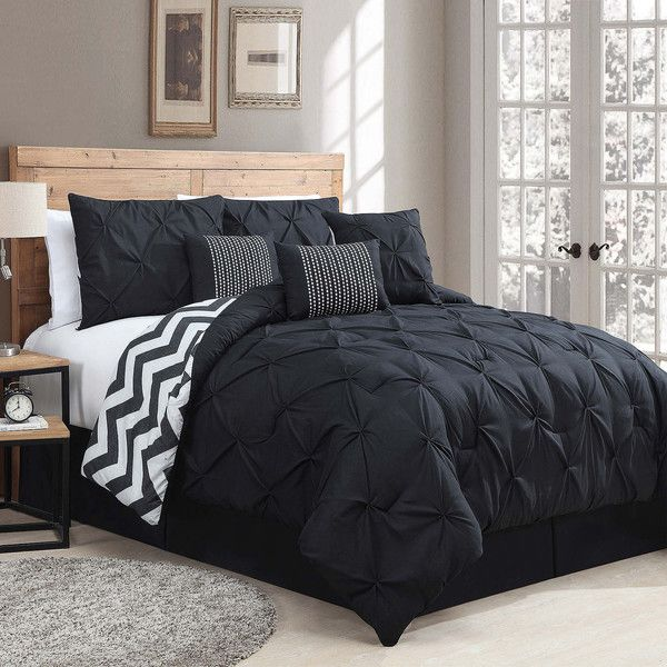 Avondale Manor Ella Striped Reversible 7-pc. Comforter Set ($220) ❤ liked on Polyvore featuring home, bed & bath, bedding, comforters, king size comforter sets, king size comforters, king comforter sets, king pillow cases and king sham