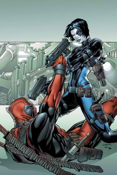 Deadpool vs Domino by Frank D'Armata