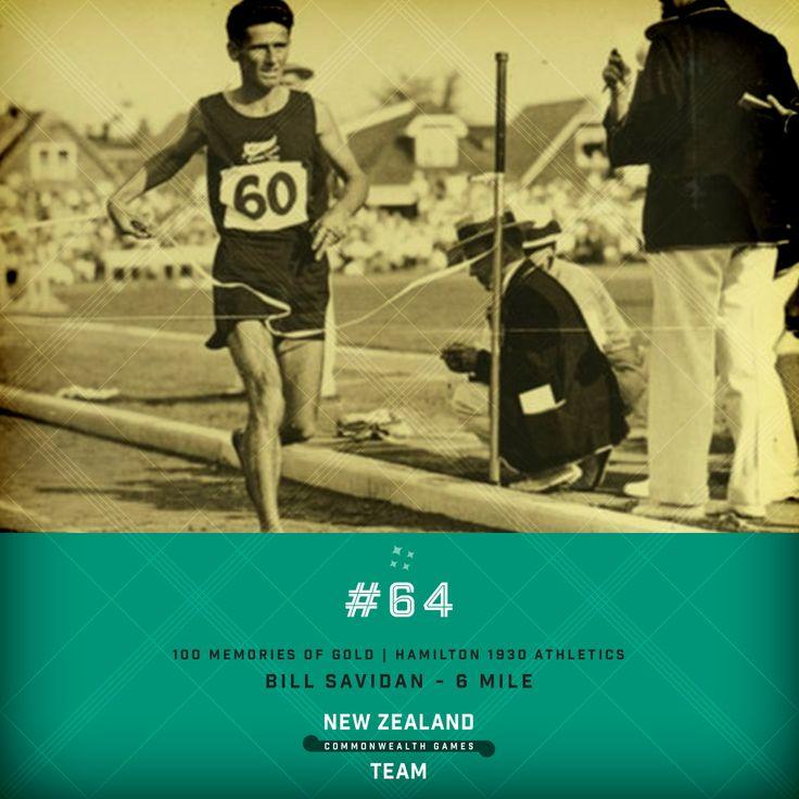 Golden Memory #64. Bill Savidan winning the men's 6 mile race at the 1930 Commonwealth Games held in Hamilton, Ontario, Canada. #makingusproud