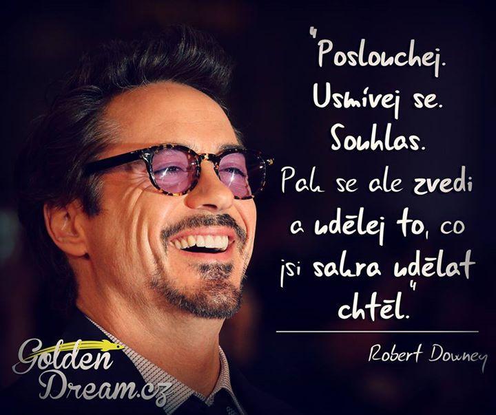 Robert Downey Jr motivace česky http://on.fb.me/14rlJrj