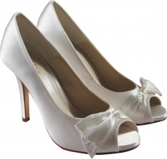 Cute peep-toe shoes from Rainbow Club, £75.  Available from www.bridalgallerycoventry.co.uk