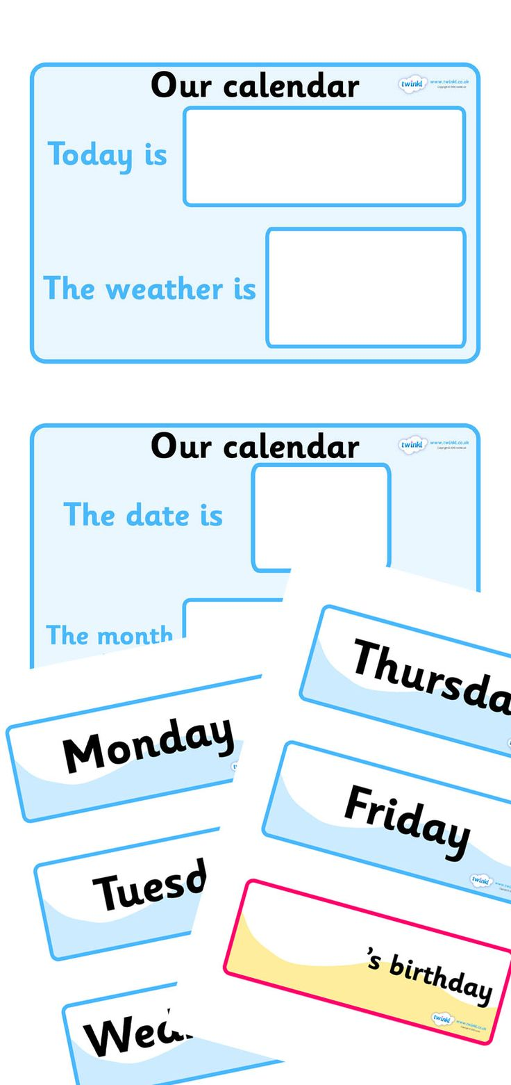 Weather Calendar  - Twinkl