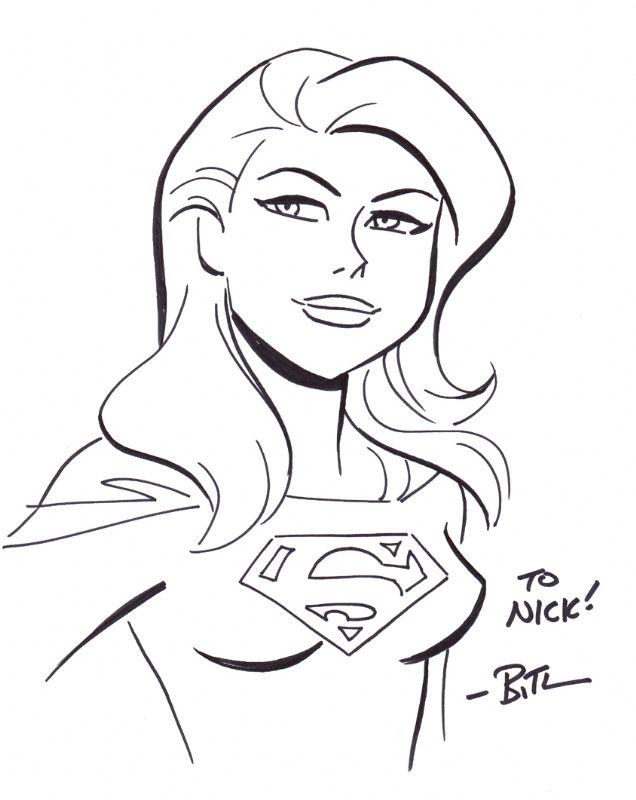 bruce timm supergirl cartoon pinups pinterest