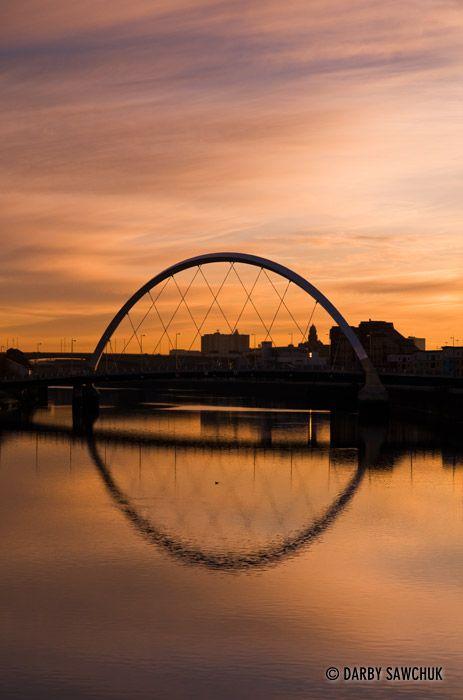 The Clyde Arc Bridge in Glasgow, Scotland.