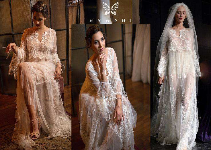 Raisa gown Bachdi resort 2017 by www.nymphidesign.com. Very delicate, angelic French lace gown with intricate embroidery and hand stitching.