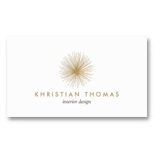 Vintage Modernist Interior Designer and Decorator Logo and Business Card Template - ready to customize