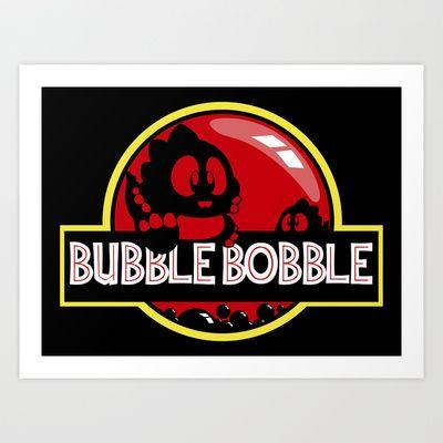 Bubble Bobble Art Print by Dutyfreak - $18.90
