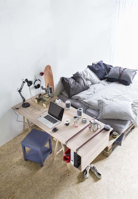 25 beste idee n over tiener loft slaapkamers op pinterest tiener hoogslapers tiener - Tiener meisje mezzanine slaapkamer ...