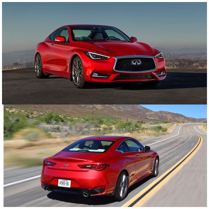 The Infiniti Q60 Coupes Red Sport is a looker, Twin Turbo