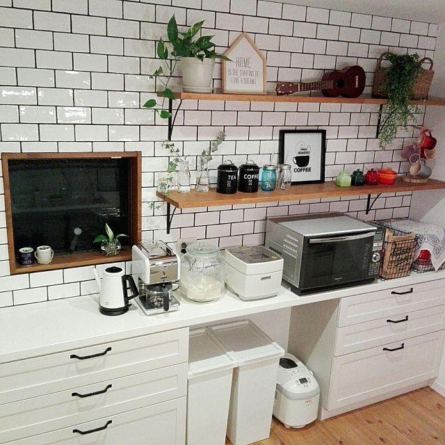 キッチン ゴミ箱 サブウェイタイル Lixil ニトリ などのインテリア