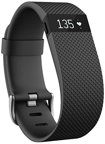 Fitbit Charge HR Wireless Activity Wristband, Black, Large Fitbit:
