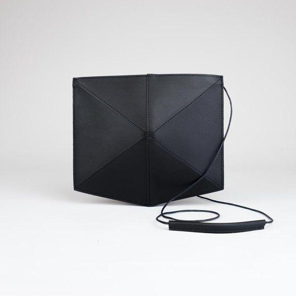 Shoulderbag Fold - mini Zwart - Zand Erover