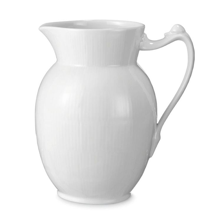 Large Jug - White Fluted - Royal Copenhagen, Denmark.