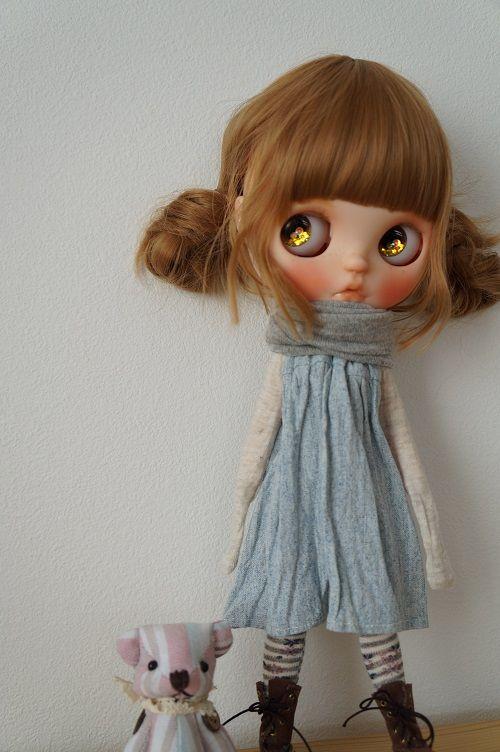 カスタムブライス Custom Blythe 二つお団子ヘア 画像6 不気味