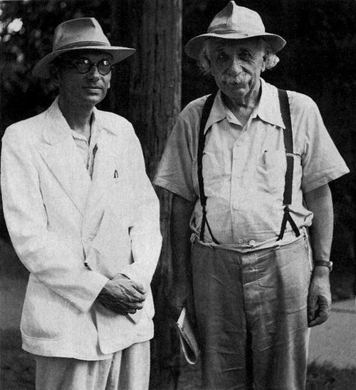 Kurt Gödel and Albert Einstein   awesomepeoplehangingouttogether