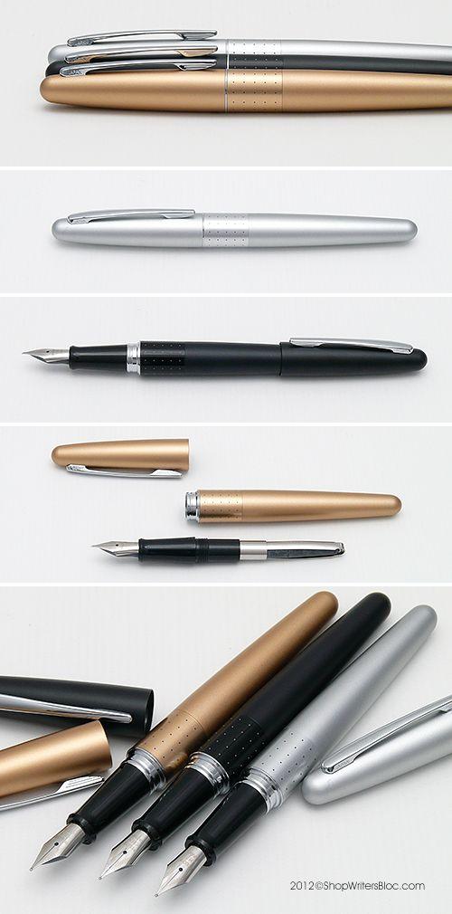 Pilot Metropolitan Fountain Pens - Silver, Black and Gold