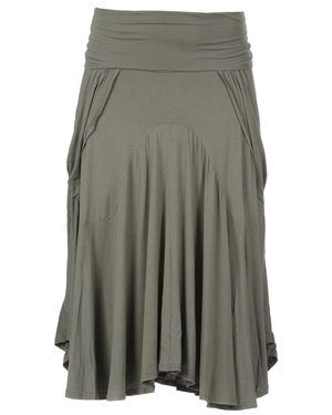 Cocoon Viscose Jersey Skirt Olive