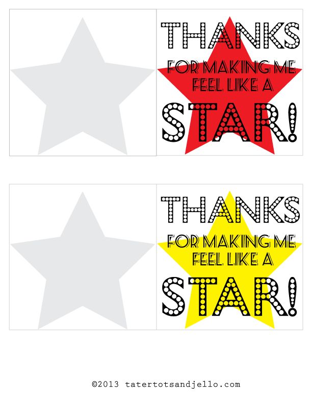 Printable Download: Movie-Themed Teacher Appreciation Gifts - Tatertots and Jello