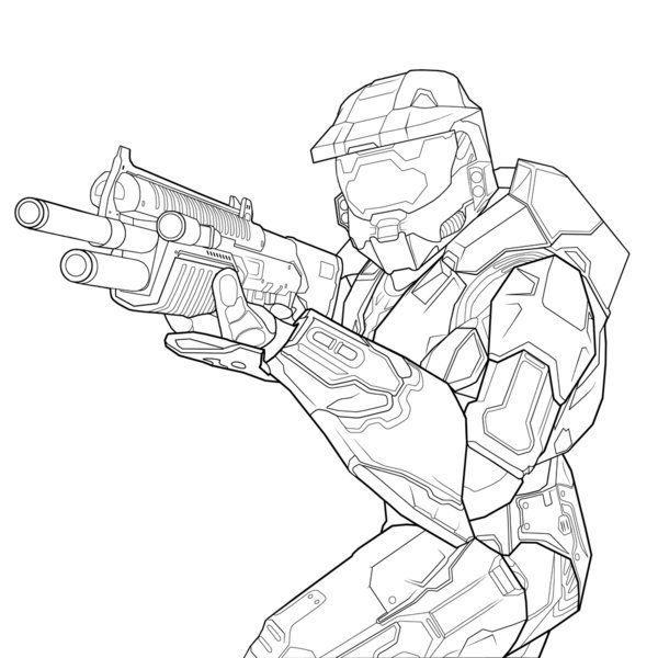 Halo Coloring Pages Halo Drawings Coloring Pages For Kids