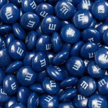 A bowl of M&M's Dark Blue will make you do a double-take. With their deep dark blue color they can look like a bowl of fresh blueberries. Don't worry, there's no fruit flavor here; it's still all abou
