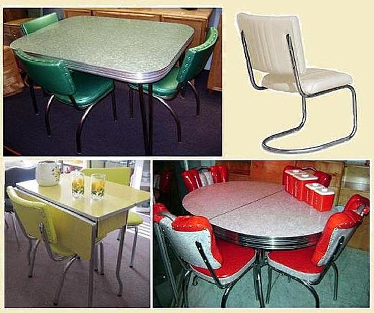 Formica Dining Suites -  very 1950s/60s retro ~ Old Wellington Region 21 June 2015
