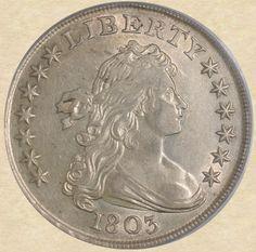 1803 Draped Bust Dollar obverse