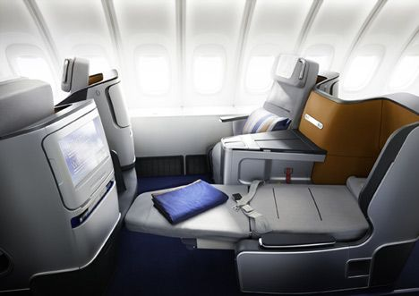Lufthansa Business Class Seat and Cabin by PearsonLloyd - I Really Like this! Hopefully BA will update their Club World Product on the A380