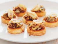 Caramelised Garlic and Blue Cheese Tartlets