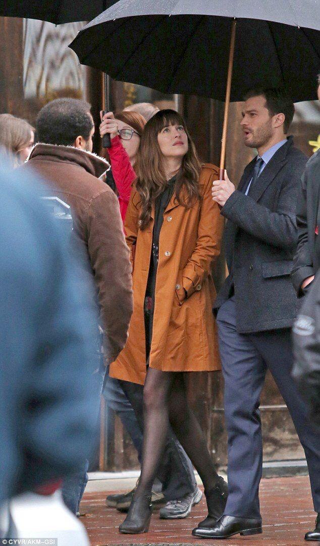 Jamie Dornan and Dakota Johnson as Christian Grey and Anastasia Steele filming Fifty Shades Darker & Freed http://www.everythingjamiedornan.com/cpg/thumbnails.php?album=178 http://www.facebook.com/everythingjamiedornan