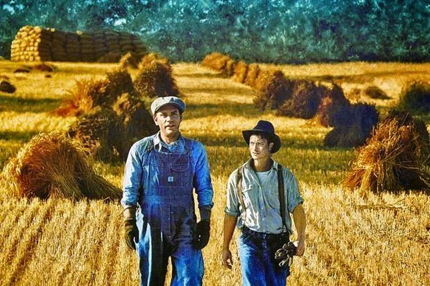 John Malkovich e Gary Sinise rispettivamente nei ruoli di George e Lennie nella versione cinematografica del regista Gary Sinise (1992).
