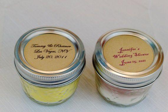 Soia Mason Jar candela favori-50...Favori di nozze...Personalizzata...Partito favore...Baby doccia...Addio al nubilato...Compleanno