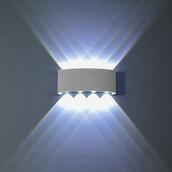 LED ALLUMINIO LAMPADA ESTERNO PARETE Aussenlampe Lampada casa esterno muro in alluminio
