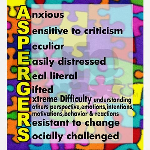 I think had Aspergers been able to be diagnosed many years ago, I would have been the poster child. This describes me. (Except maybe the real literal part)
